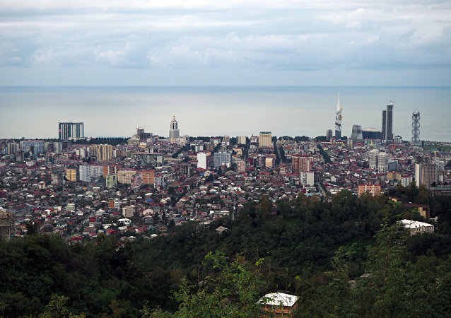 View of Batumi from an observation deck of the Argo aerial cableway.