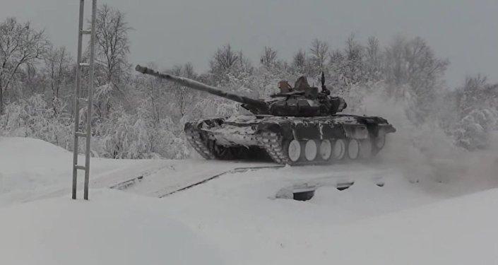 Russia's Motorized Infantry & Coastal Troops Prepare For Tank Biathlon