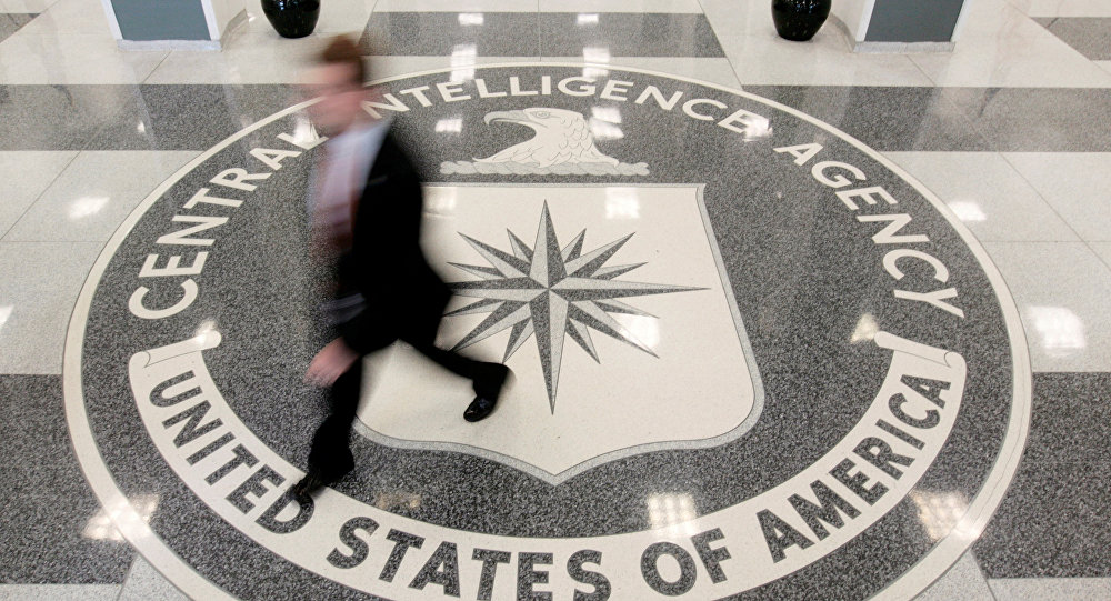 The lobby of the CIA Headquarters Building is pictured in Langley, Virginia, U.S.