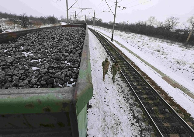 Kryvyi Torets station in the village of Shcherbivka in Donetsk region, Ukraine. (File)