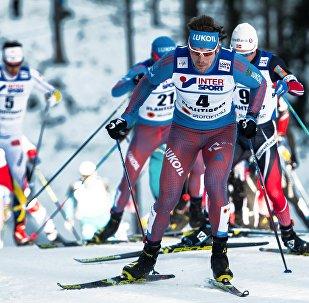 Sergei Ustyugov (Russia) during the men's 50km freestyle mass start at the FIS Nordic World Ski Championships 2017 in Lahti, Finland