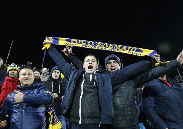 Football Soccer - FC Rostov v Manchester United - Europa League Round of 16 First Leg - Olimp-2 Stadium, Rostov-on-Don, Russia - 9/3/17 FC Rostov fans before the match