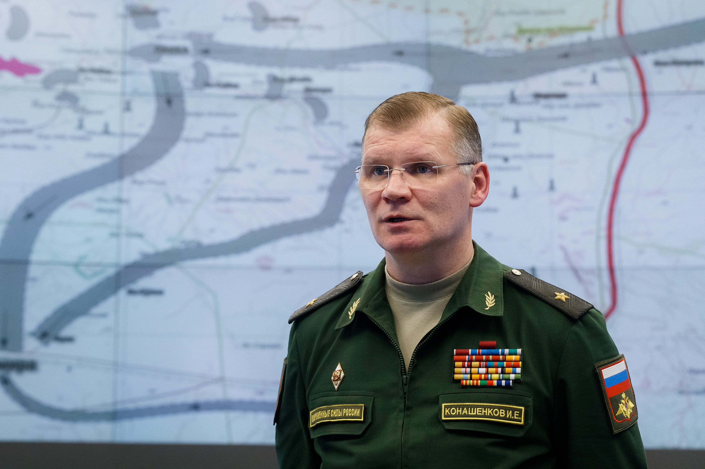 Major General Igor Konashenkov, the Russian defense ministry's official spokesman