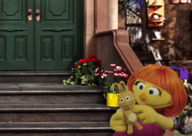 Julia on Sesame Street