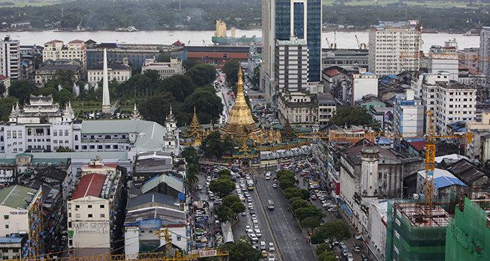 View of downtown Yangon, Myanmar September 23, 2015.