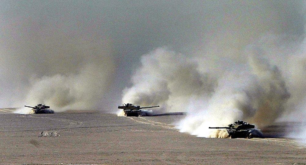 British Challenger II battle tanks. (File)
