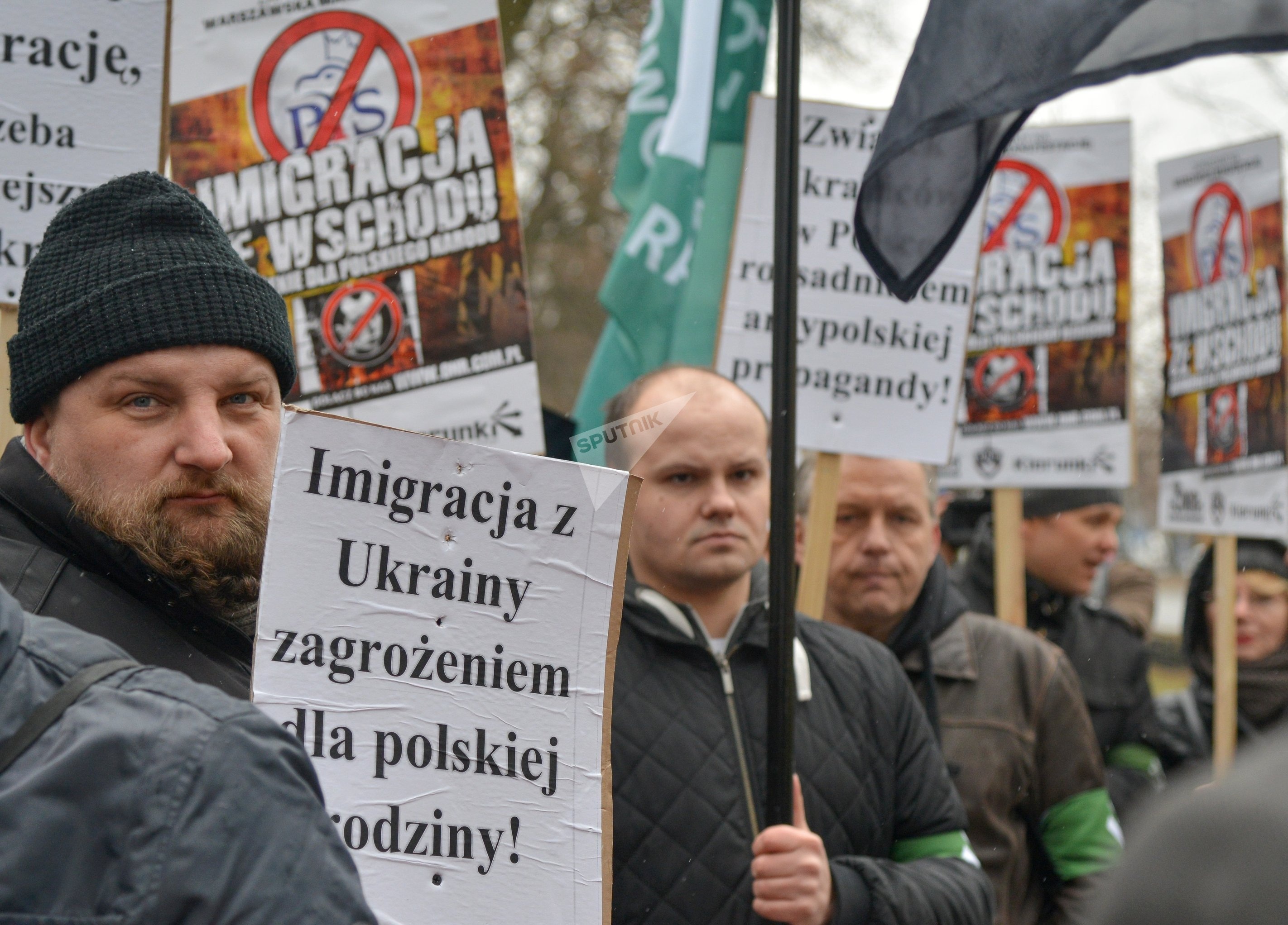 Rally in Warsaw against increased number of Ukrainian immigrants