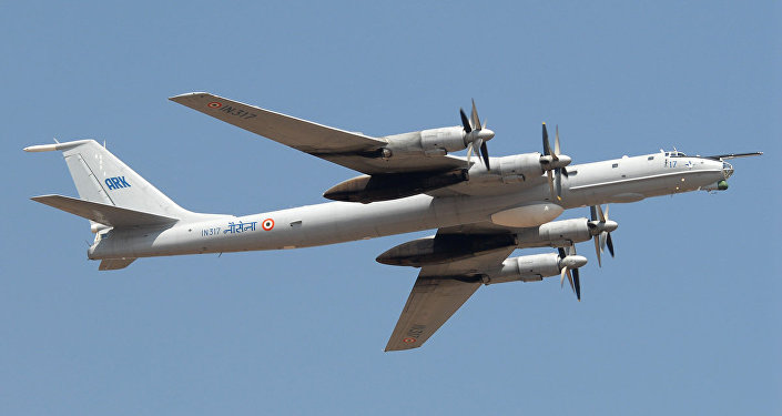 Indian Navy's Tupolev Tu-142M aircraft
