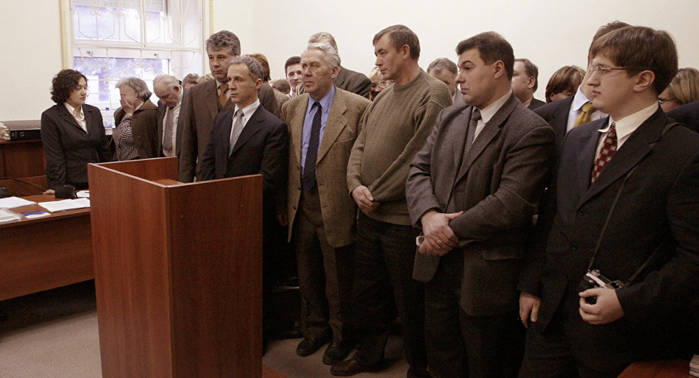 Members of Jehovah's Witnesses listen to the judge's verdict in a court room in Moscow (File)