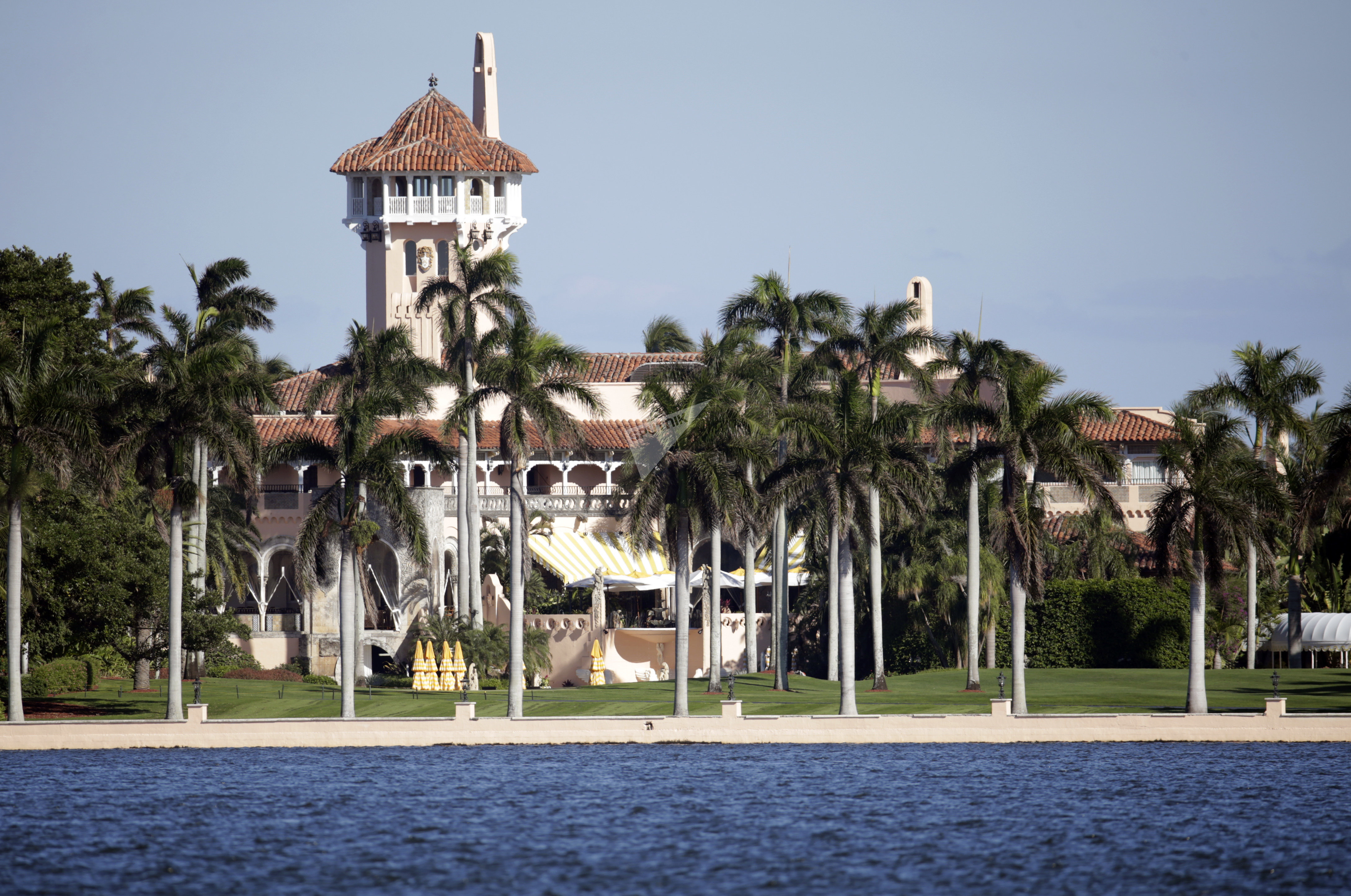 This Monday, Nov. 21, 2016, photo, shows the Mar-a-Lago resort owned by President-elect Donald Trump in Palm Beach, Fla.