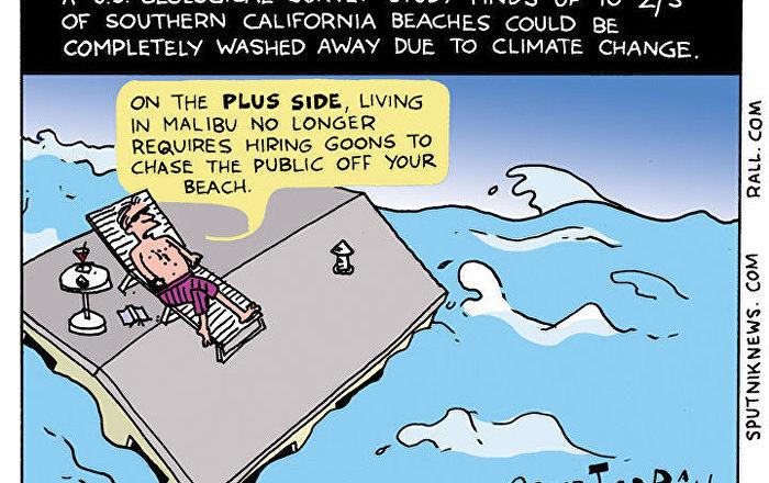 California Beaches Comic