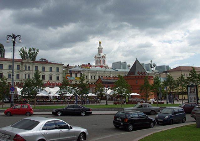 View of Kitaigorod wall from Teatralnaya Square. (File)