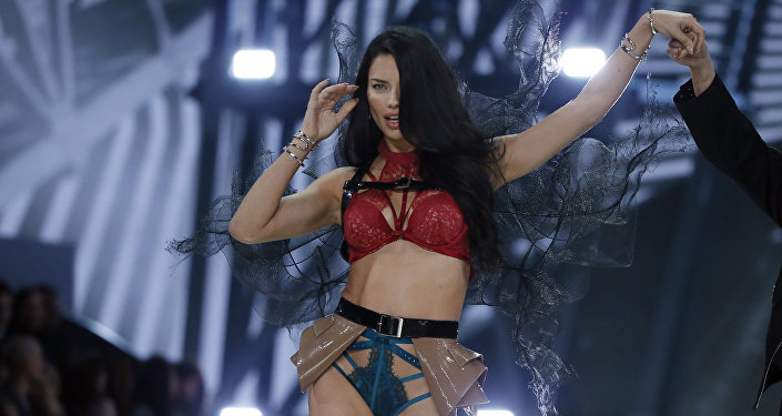 Model Adriana Lima presents a creation during the Victoria's Secret Fashion Show inside the Grand Palais, in Paris. (File)