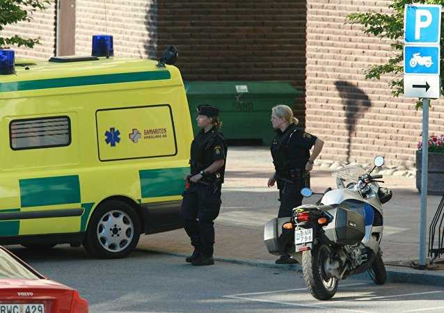 Police and ambulance personnel, Sweden (File)