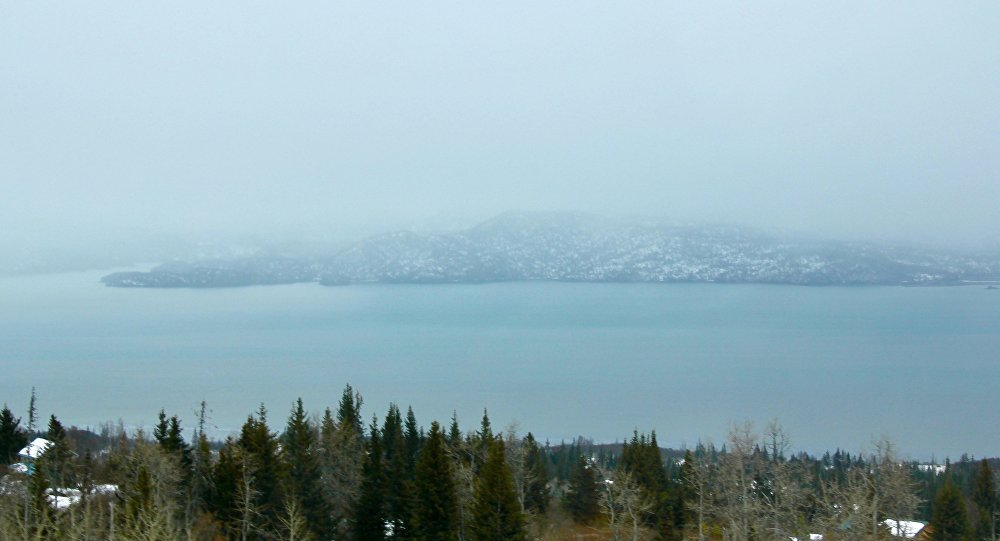 A view of a bay in the village of Kachemak, Alaska