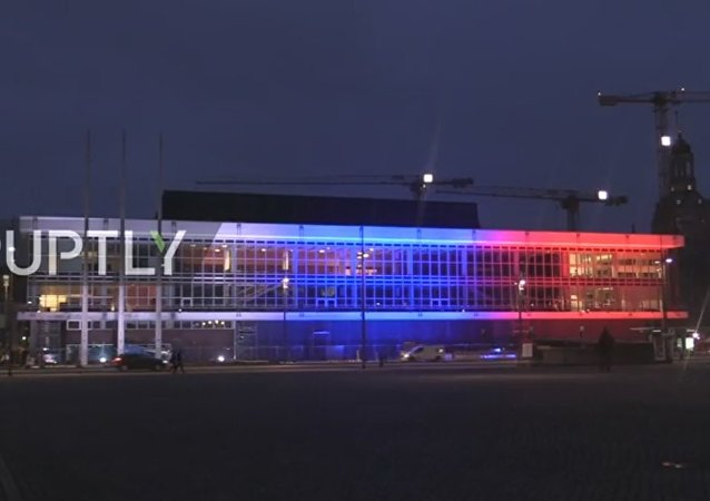 Dresden lights up Palace of Culture with Russian flag for St. Petersburg blast victims