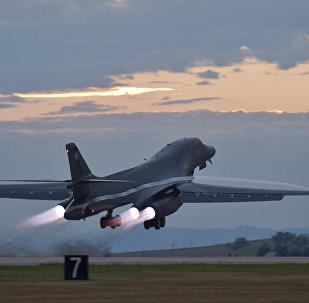 A US B-1B Lancer bomber taking off. File photo