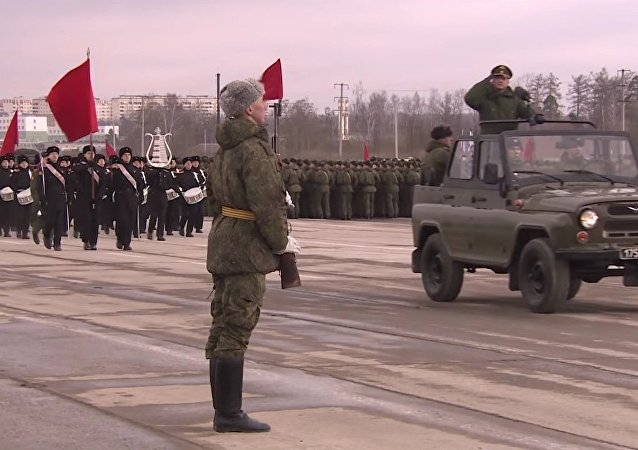 First Rehearsal For 2017 Moscow Victory Day Parade