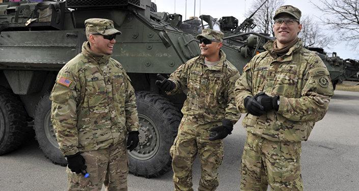 US servicemen in Latvia. File photo
