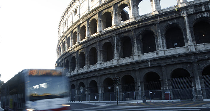 Rome has begun a traffic ban to protect ancient glories from modern perils, allowing only buses, taxis, bicycles and pedestrians to go down the boulevard that runs between the Roman forums and curves around the Colosseum.