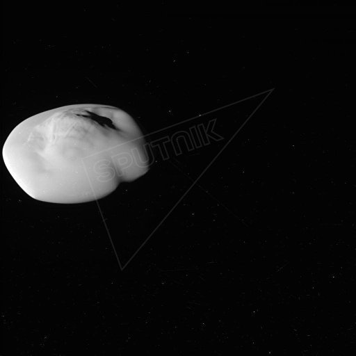 Atlas, the flying saucer moon of Saturn. Photo taken by NASA's Cassini Probe.