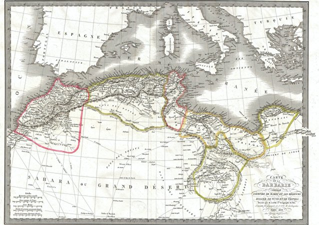An attractive map 1829 map of Barbary Coast by the French cartographers Pierre and Alexander Lapie