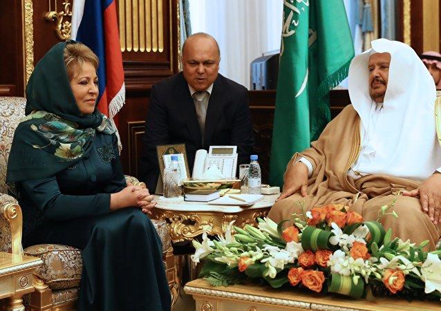 Russian Upper House head Valentina Matviyenko's visit to Saudi Arabia. File photo