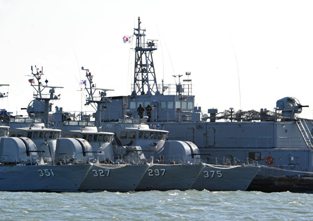 South Korean navy vessels (File)