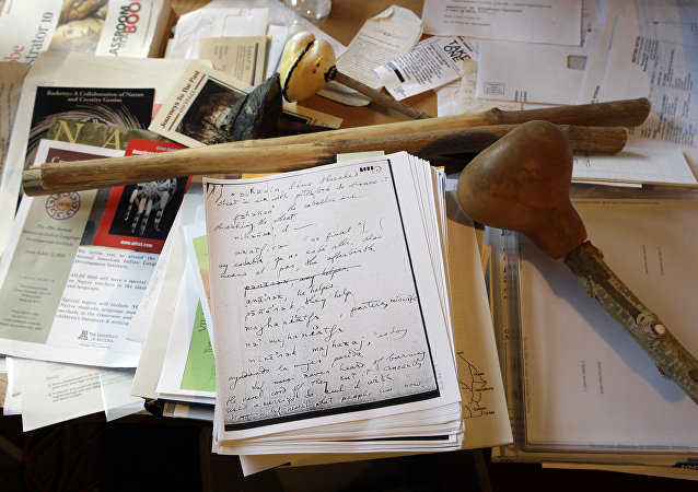 Desk of a linguist (File)