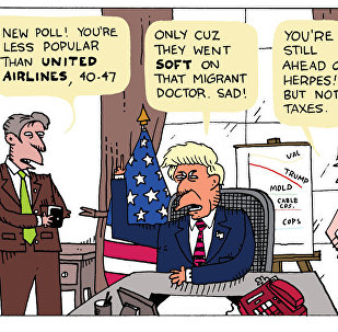 Sad Trump Poll Cartoon