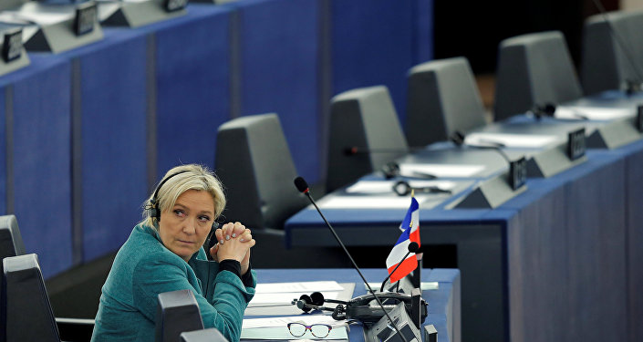 Marine Le Pen, French National Front (FN) political party leader and Member of the European Parliament, attends a debate at the European Parliament in Strasbourg, France, February 3, 2016