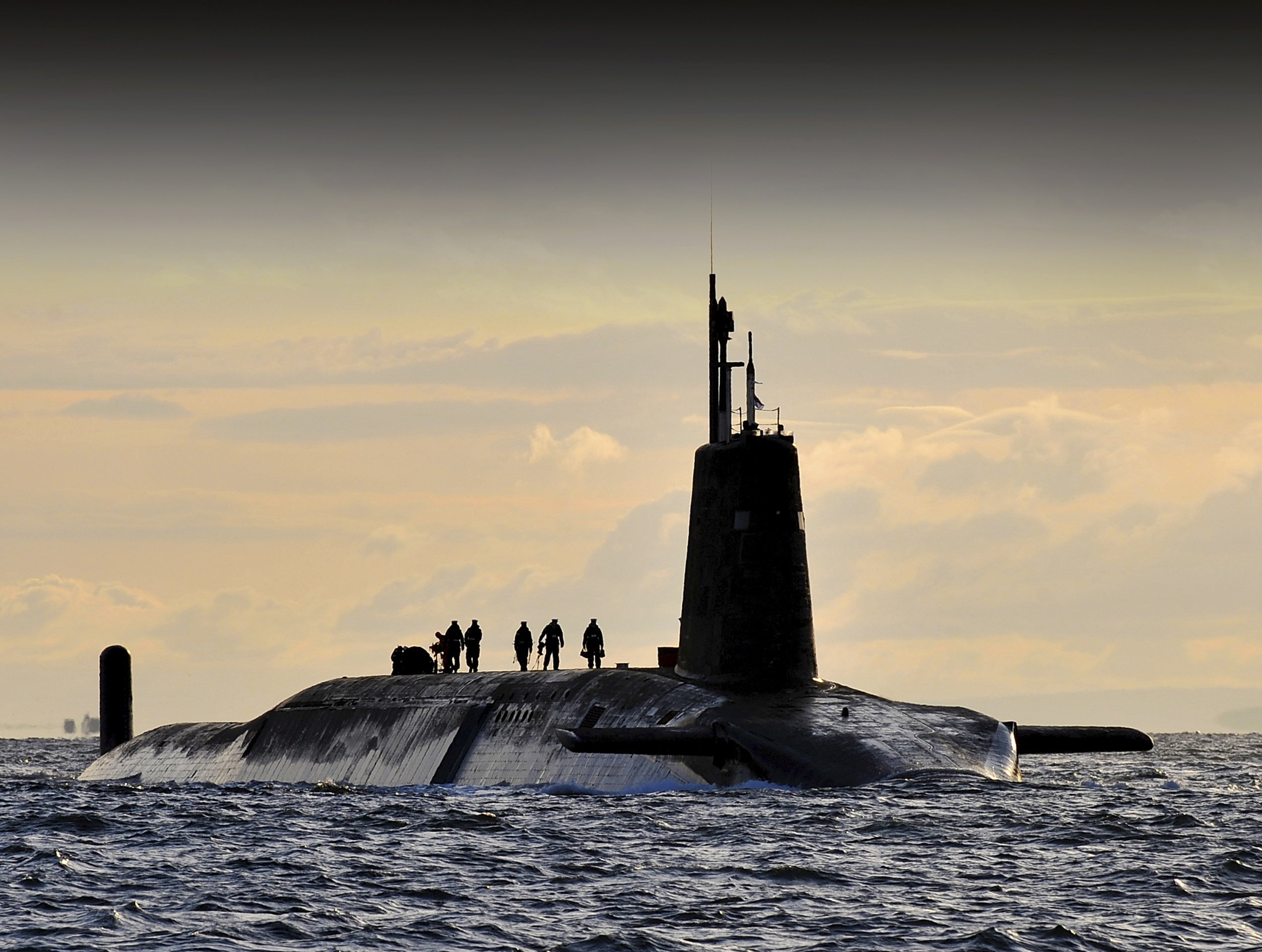 HMS Vanguard arrives back at HM Naval Base Clyde, Faslane, Scotland following a patrol. (File)