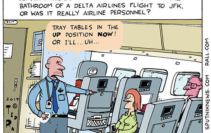 Delta Airlines Gun Cartoon