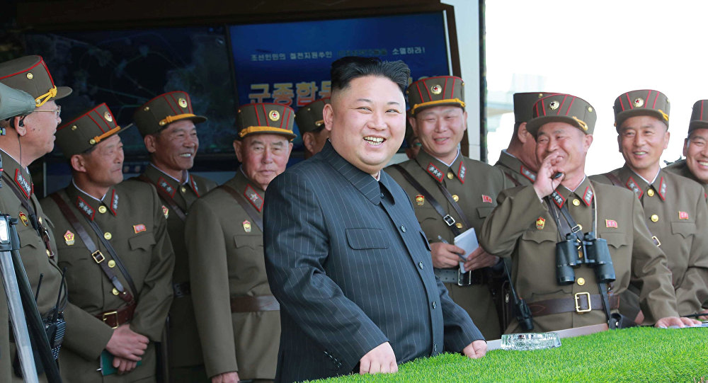 North Korean leader Kim Jong Un supervises KPA live-fire drills held on the 85th anniversary of the establishment of the Korean People's Army