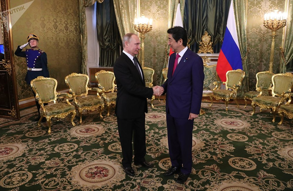 Russian President Vladimir Putin and Japanese Prime Minister Shinzo Abe on Thursday discussed joint economic activities of Russia and Japan on the Kuril Islands.