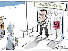 Macron the Media Bouncer
