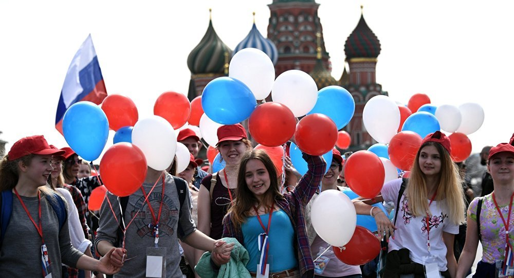 Labor Day Parade Held in Moscow With Thousands of Participants