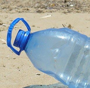 Plastic bottle on a beach. File photo.