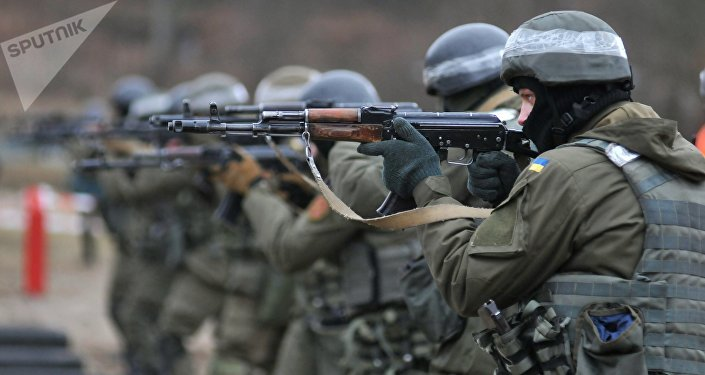 Ukraine's National Guard soldiers undergo NATO combat training