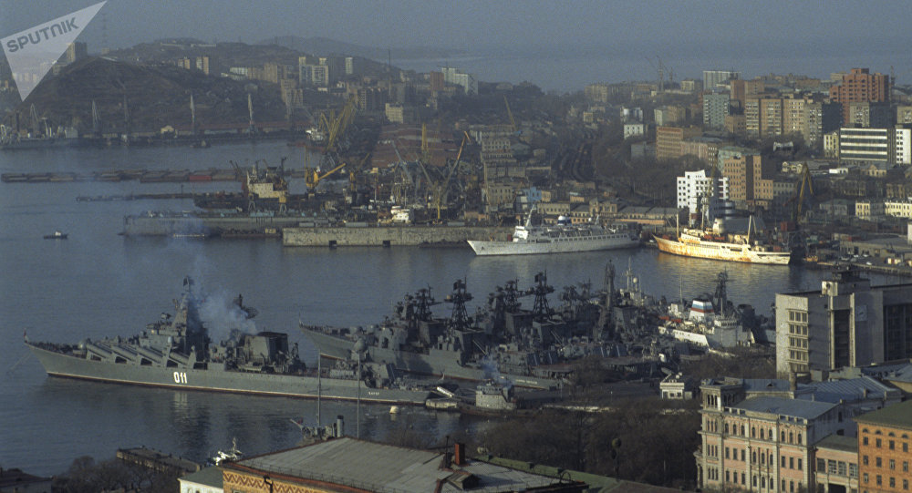 Vladivostok, the city and port on the Far East of Russia