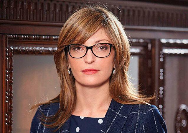 Bulgaria's Foreign Minister Ekaterina Zakharieva