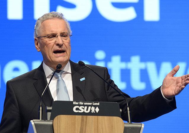 Image result for Bavaria's state interior minister, Joachim Herrmann