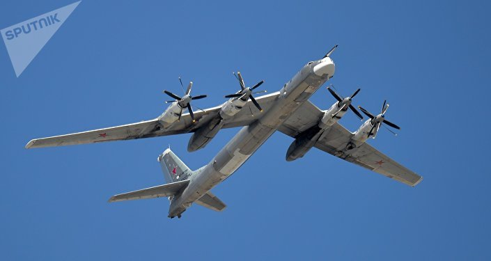 A Tupolev Tu-95MS Bear strategic bomber