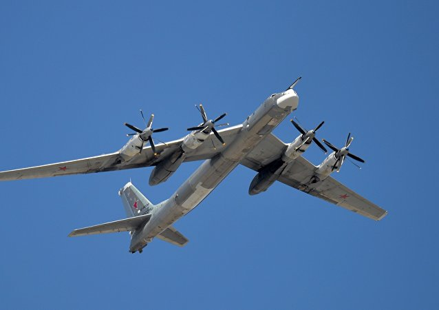 A Tupolev Tu-95MS Bear strategic bomber