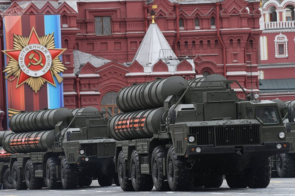 An S-400 Triumf air defense missile system, seen here during the military parade in Moscow marking the 72nd anniversary of the victory in the Great Patriotic War of 1941-1945.