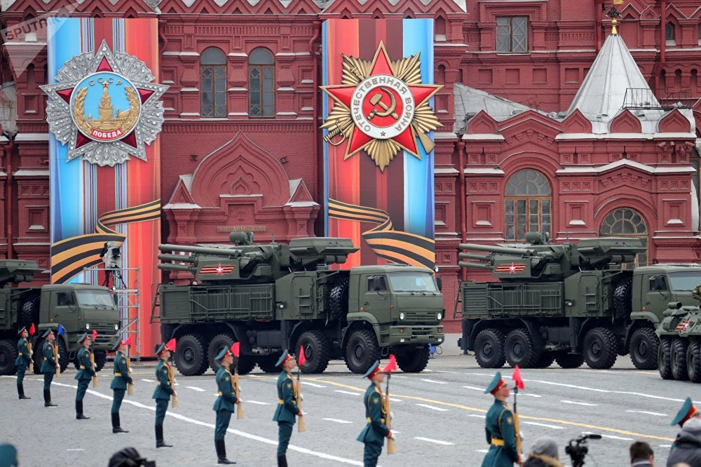 A Pantsir-S air defense system during  the Victory Day Parade on Red Square.