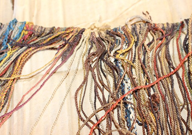 The Incas used animal hair to create twisted cords, known as khipus.