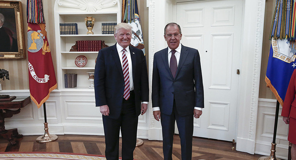 Trump Says Meeting With Russian FM Lavrov Last Week...