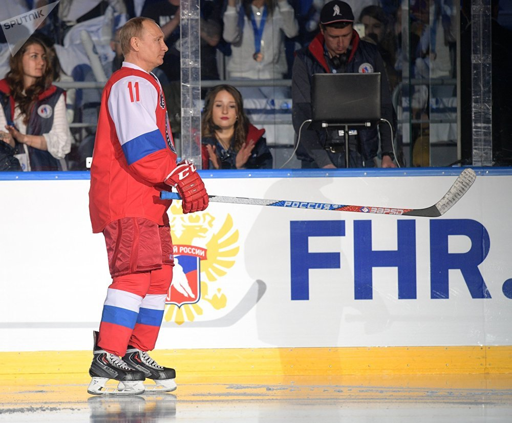 And He Scores! Putin Hits the Ice at Night Hockey League Festival in Sochi
