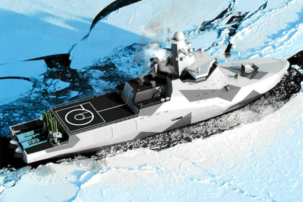 Concept rendering of the Project 23550 Arctic patrol ship